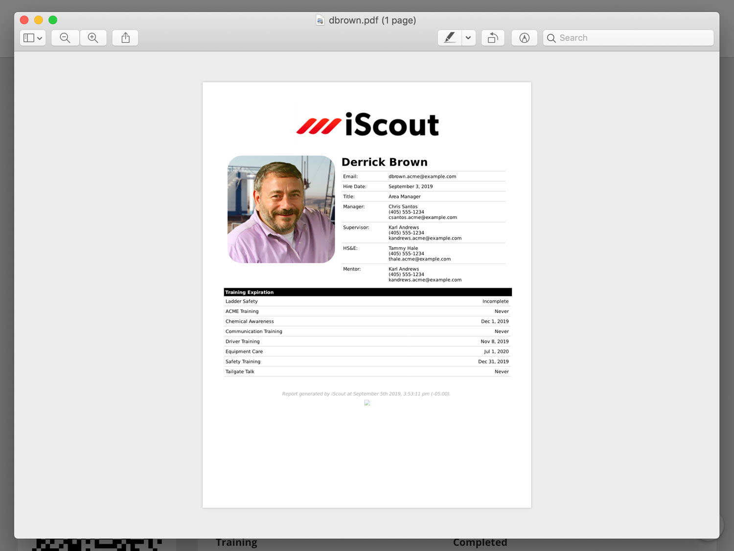 Employee Profile PDF