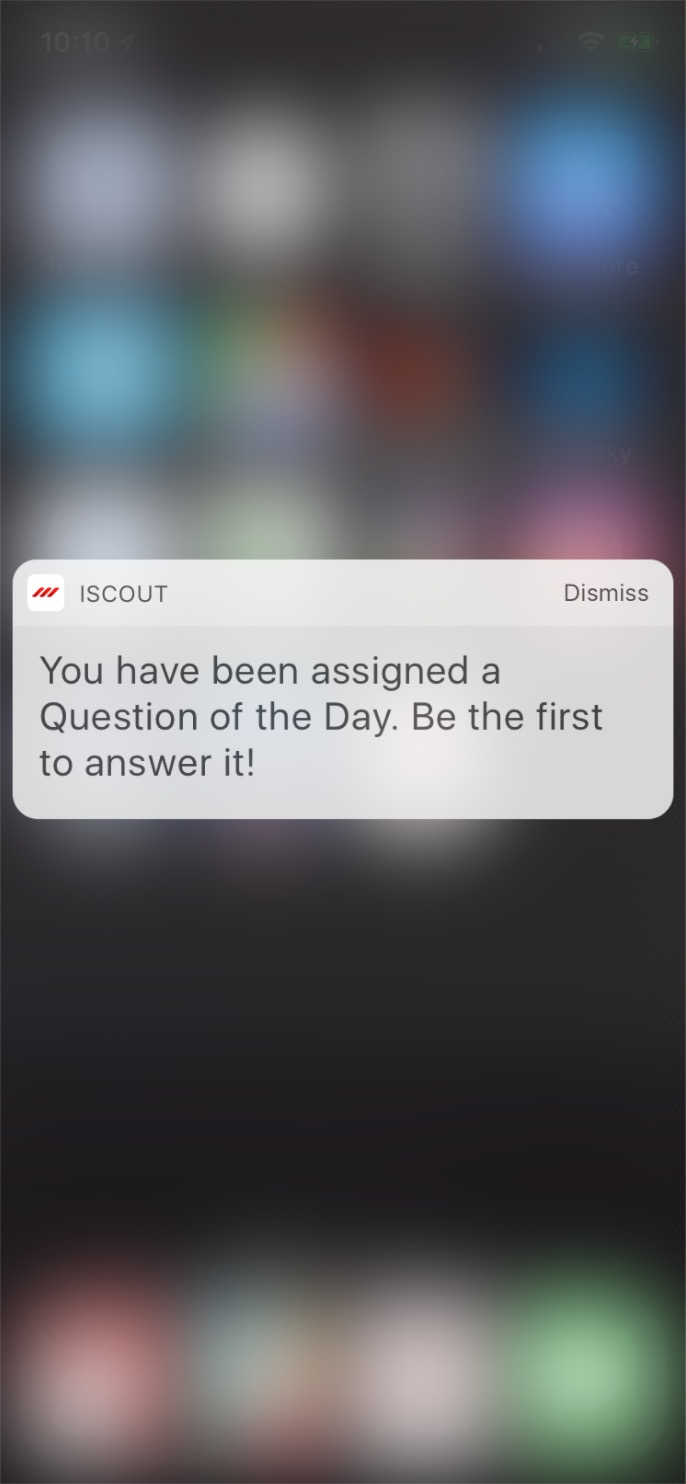 Question of the Day Alert