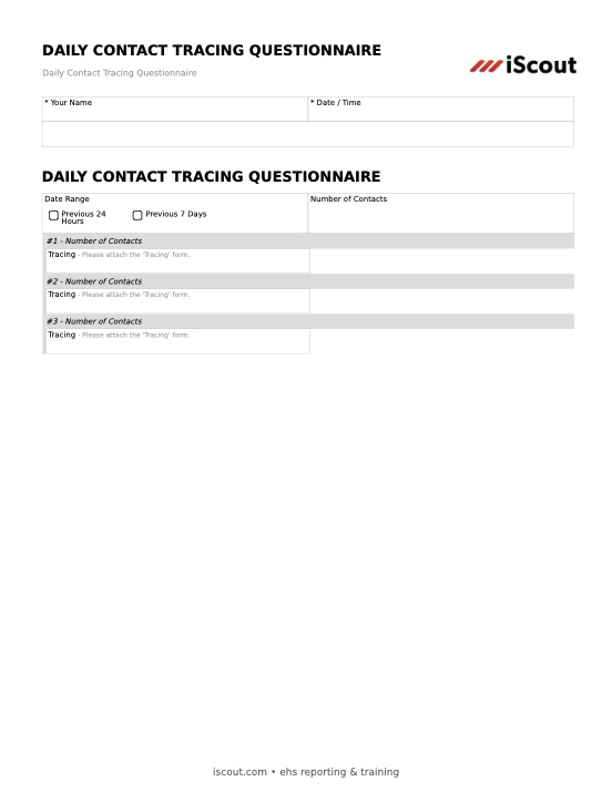 Daily Contact Tracing Questionnaire